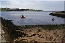 NZ3668 : Small beach on the River Tyne by Bill Boaden