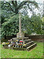 ST3093 : Grade II listed churchyard cross, St Michael and All Angels, Llantarnam by Jaggery