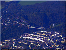 ST5673 : Clifton Bridge from the air by Thomas Nugent