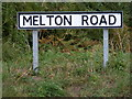 TM3545 : Melton Road sign by Adrian Cable