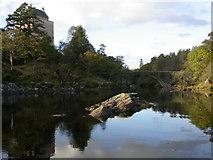 NM6947 : Kinlochaline Castle at high tide by Peter Bond