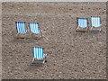 TQ3003 : Brighton: deckchairs on the beach by Chris Downer