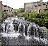 SD8789 : Waterfall on Gayle Beck, Hawes by Andrew Curtis