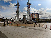 SJ8097 : Lowry Bridge, Salford Quays by David Dixon
