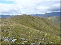 NH1718 : The steep north face of Aonach Shasuinn by Richard Law