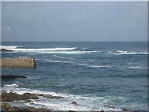 SW3526 : Sennen Cove - End of the Jetty by Roy Hughes