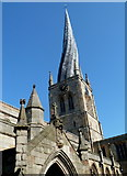 SK3871 : Parish church, Chesterfield by Andrew Hill
