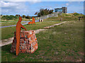 J4967 : Bricks and sculptures, Castle Espie by Rossographer