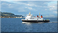 NS1366 : MV 'Bute' Passing Toward Lighthouse by Anne Burgess