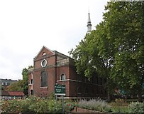 TQ3382 : St Leonard, Shoreditch High Street, Shoreditch by John Salmon