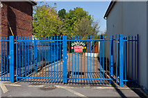 SU3521 : Entrance to the Signal Box Project, Winchester Road by Peter Facey