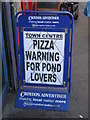 TQ3265 : Pizza warning for pond lovers by Christopher Hilton