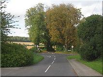 SU5751 : Andover Road crossroads - Oakley by Given Up