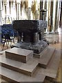 SK9771 : Font, Lincoln Cathedral by J.Hannan-Briggs