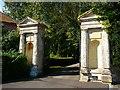 SU1541 : Amesbury - The Abbey Gates by Chris Talbot