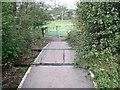 SJ9252 : Footpath level crossing on the Stoke to Leekbrook Line by Ian Calderwood