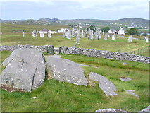 NB2133 : Callanish Stones from Cnoc an Tursa by Colin Smith