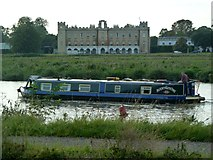 TQ1776 : Narrowboat on the River Thames in front of Syon House by Graham Hogg