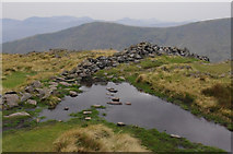NY3710 : Puddle on Dove Crag by Ian Taylor