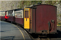 SH4862 : Welsh Highland Railway Train at Caernarfon, Gwynedd by Peter Trimming