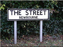 TM2743 : The Street, Newbourne sign by Geographer