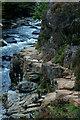 SH5946 : Footpath in the Aberglaslyn Pass, Gwynedd by Peter Trimming