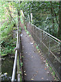 SE2203 : Thurlstone - footbridge on Leapings Lane to Saville Lane footpath by Dave Bevis