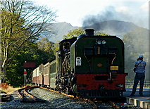 SH5848 : Arriving at Beddgelert Station by Peter Trimming