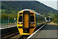 SH5639 : Arriva Train Arrives at Porthmadog, Gwynedd by Peter Trimming