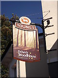 TQ3472 : Dulwich Wood House, Pub Sign  by David Anstiss