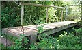 SP3183 : Footbridge over Hall Brook by starkderrick