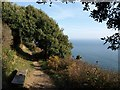SX4348 : Seat on the coast path by Derek Harper