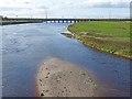 NY3564 : Railway bridge over the River Esk by Oliver Dixon
