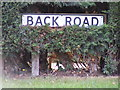 TM2839 : Back Road sign by Adrian Cable
