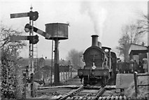 TQ8833 : Tenterden Town station, with train from Headcorn on the Last Day of service. by Ben Brooksbank