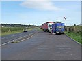 NY3770 : Lay-by and mobile snack bar on the A7 by Oliver Dixon