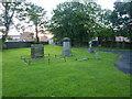 NZ1238 : St Philip & St James Church, Tow Law, Graveyard by Alexander P Kapp