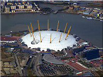TQ3979 : The Millennium Dome from the air by Thomas Nugent