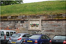 NT9953 : Sign on the town walls by N Chadwick