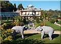SP1731 : Elephants at Sezincote House by Des Blenkinsopp