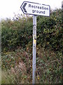 TM2739 : Kirton Recreation  Ground sign by Adrian Cable