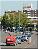 SO9299 : Road junction on the A4124 in Wolverhampton by Roger  Kidd