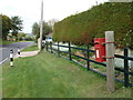 SY4790 : Bothenhampton: postbox № DT6 121, Burton Road by Chris Downer