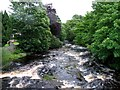 NY8539 : Downstream from bridge over River Wear at Wearhead by Andrew Tatlow