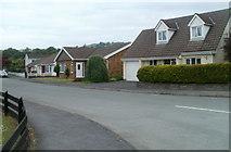 SN7634 : Maes y Coleg houses, Llandovery by Jaggery