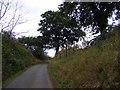 TM2838 : Brook Lane, Falkenham & the Stour & Orwell Walk footpath by Adrian Cable