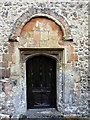SU1790 : Norman doorway, north side, St Leonard's Church, Stanton Fitzwarren, Swindon by Brian Robert Marshall