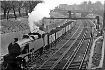 TQ2775 : Up mineral empties on Brighton line approaching Clapham Junction by Ben Brooksbank