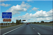 SE4155 : A1(M) - signs nearing junction 47 by Robin Webster