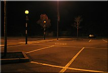 SK8508 : Car park at Tesco Oakham by Andrew Tatlow